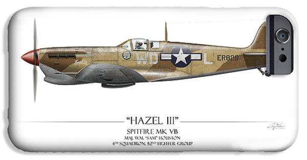 Mkix iPhone Cases - Hazel III Spitfire MkV iPhone Case by Craig Tinder