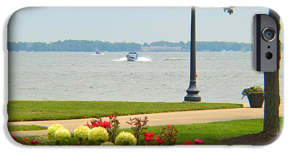Fed iPhone Cases - Hazy Day At Lake Wawasee iPhone Case by Tina M Wenger