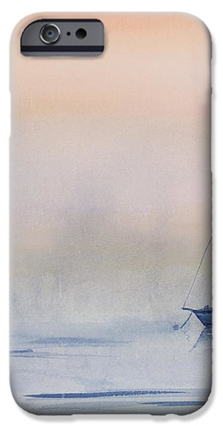 Hazy Day Watercolor Painting iPhone Case by Michelle Wiarda