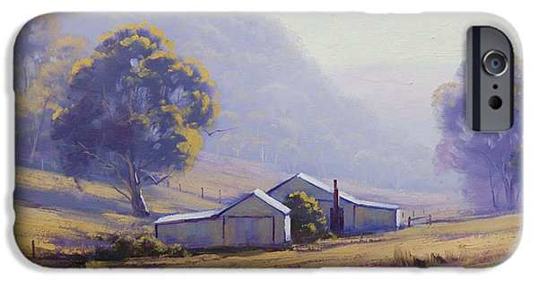 Rural iPhone Cases - Hazy Morning iPhone Case by Graham Gercken