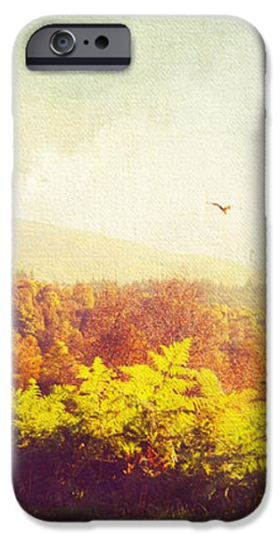 Hazy Morning in Trossachs National Park. Scotland iPhone Case by Jenny Rainbow