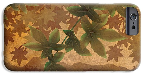 Fabric Mixed Media iPhone Cases - Hazy Shades - Morning Version iPhone Case by Bedros Awak
