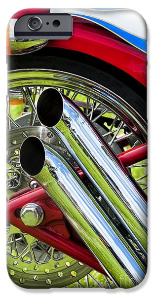 HD Custom Drag Pipes iPhone Case by Tim Gainey