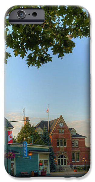 HDR Sussex Broad Street Canadian Flag iPhone Case by Jamie Roach