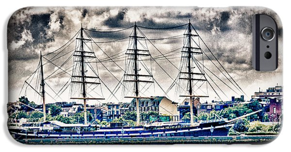Pirate Ship iPhone Cases - HDR Tall Ship Boat Pirate Sail Sailing Photography Gallery Art Image Photo Buy Sell Sale Picture  iPhone Case by Pictures HDR