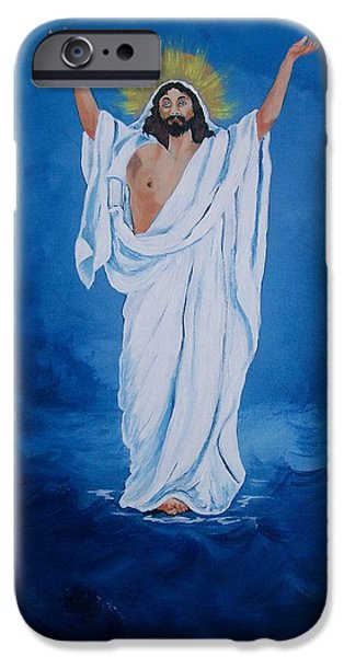 Eternal Inspirational iPhone Cases - He Walked on Water iPhone Case by Sharon Duguay