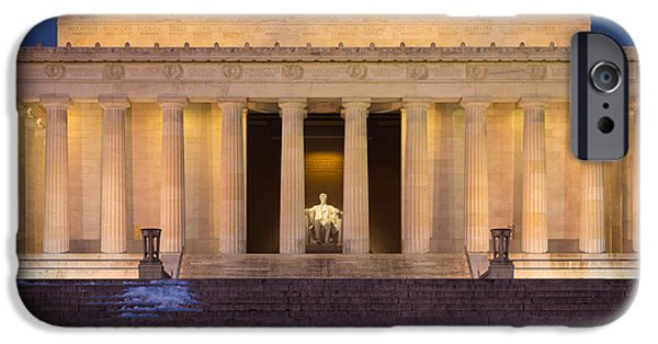 National Mall iPhone Cases - He Who Saved the Union iPhone Case by Inge Johnsson
