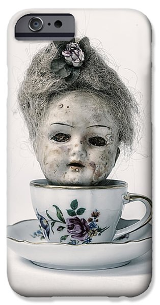 Porcelain Doll iPhone Cases - Head In Cup iPhone Case by Joana Kruse