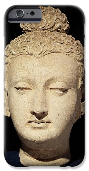 Buddhism iPhone Cases - Head Of A Buddha, Greco-buddhist Style, From Hadda Stucco iPhone Case by Afghan School