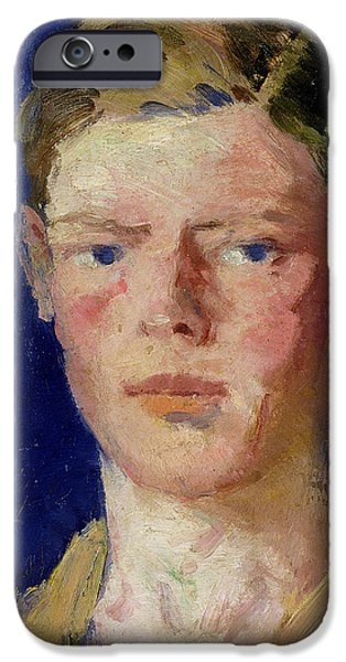 Head of a Young Man iPhone Case by Francis Campbell Boileau Cadell