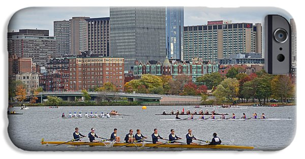 Charles River iPhone Cases - Head of the Charles. Charles rowers iPhone Case by Toby McGuire