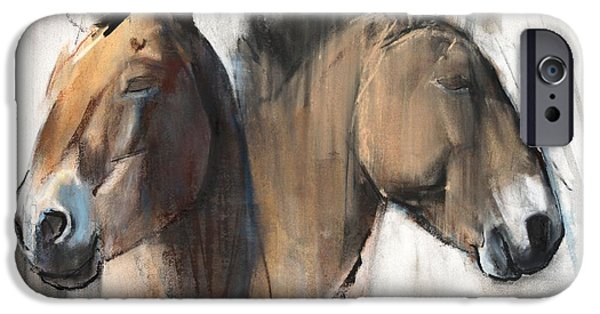 Horse iPhone Cases - Head Study iPhone Case by Mark Adlington