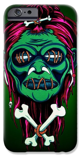 Santeria iPhone Cases - Headhunter iPhone Case by Steve Hartwell
