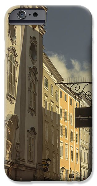 Austria iPhone Cases - Heading for the shops iPhone Case by Chris Fletcher