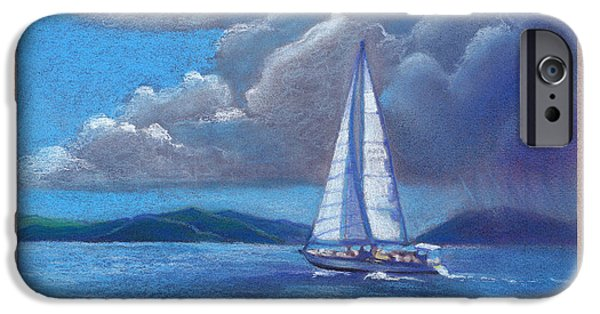Racing Pastels iPhone Cases - Heading Home Close Hauled iPhone Case by Michael  Weber