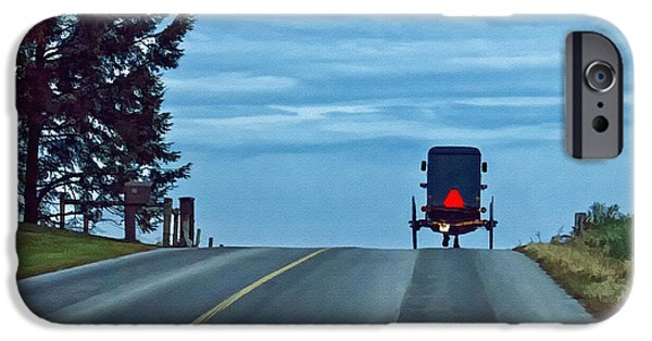 Amish Photographs iPhone Cases - Heading Home iPhone Case by Priscilla Burgers