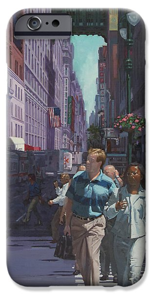 Exchange Place iPhone Cases - Heading Penn Station iPhone Case by Gary Kim