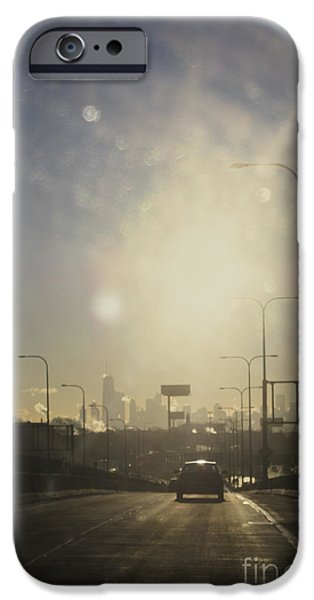 Willis Tower iPhone Cases - Heading South on the Kennedy iPhone Case by Margie Hurwich