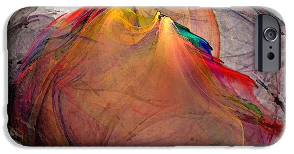 Lyrical iPhone Cases - Headless-Abstract Art iPhone Case by Karin Kuhlmann