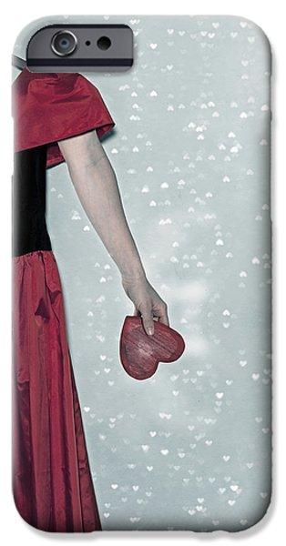 Coat Hanger iPhone Cases - Headless Love iPhone Case by Joana Kruse