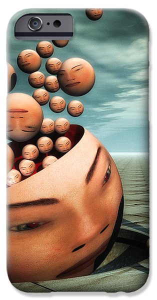 Heads iPhone Case by Bob Orsillo