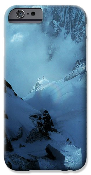 Winter Storm iPhone Cases - Headwall Mount Blanc iPhone Case by Frank Wilson