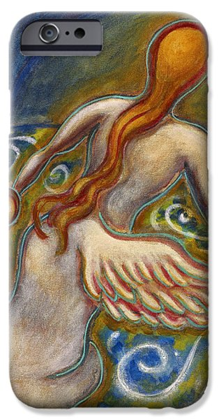 Merging Paintings iPhone Cases - Healing Angel iPhone Case by Annette Wagner