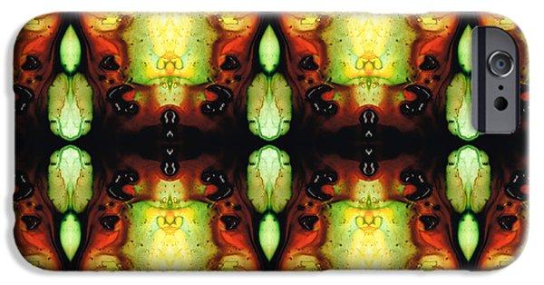 Visionary Artist iPhone Cases - Healing Energy - Visionary Art By Sharon Cummings iPhone Case by Sharon Cummings
