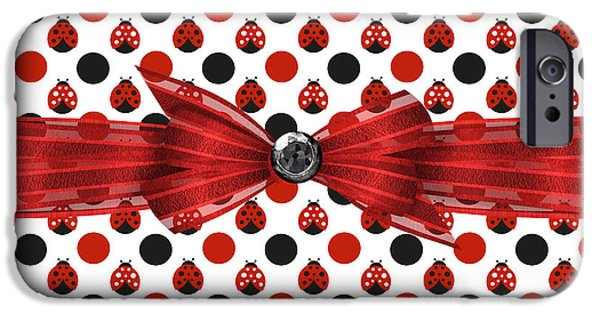 Ladybug iPhone Cases - Healing Ladybugs iPhone Case by Debra  Miller