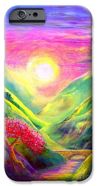 Ancient Paintings iPhone Cases - Healing Light iPhone Case by Jane Small