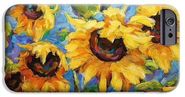 Big Al iPhone Cases - Healing light of Sunflowers iPhone Case by Richard T Pranke