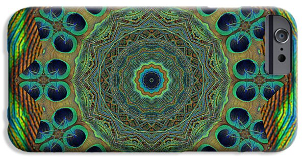 Mandala Photographs iPhone Cases - Healing Mandala 19 iPhone Case by Bell And Todd