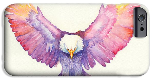 Religious Drawings iPhone Cases - Healing Wings iPhone Case by Tamer and Cindy Elsharouni