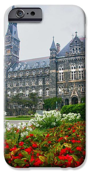D.c. iPhone Cases - Healy Hall iPhone Case by Mitch Cat