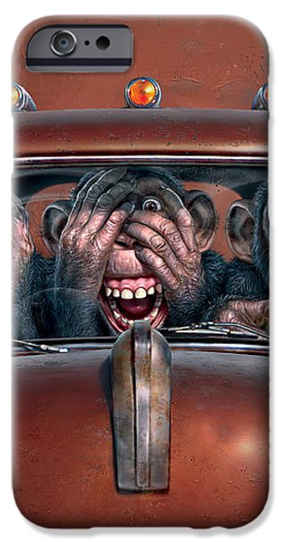 Hear No Evil See No Evil Speak No Evil iPhone Case by Mark Fredrickson