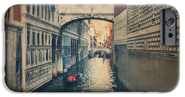 Venetian Canals iPhone Cases - Hear the Sighs iPhone Case by Laurie Search