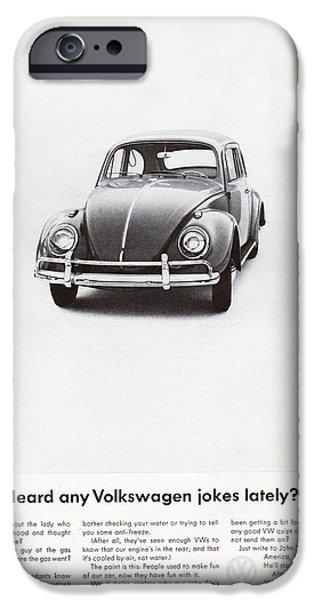 Volks iPhone Cases - Heard any good Volkswagen jokes lately iPhone Case by Nomad Art And  Design