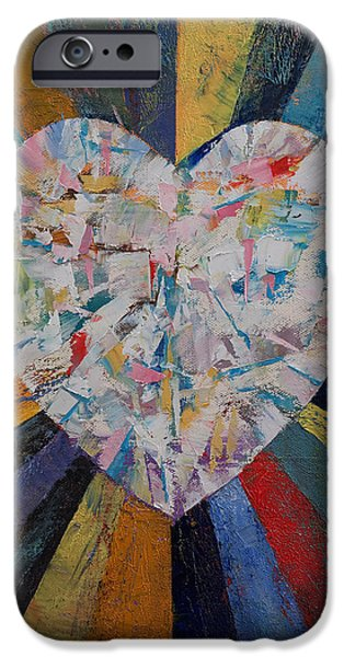 Michael Paintings iPhone Cases - Heart iPhone Case by Michael Creese