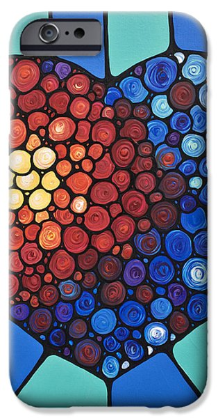 Heart Art - Love Conquers All 2  iPhone Case by Sharon Cummings