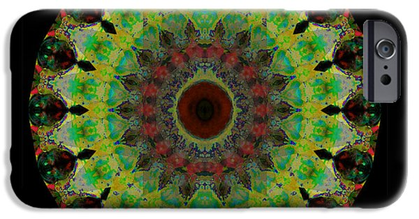 Mandalas iPhone Cases - Heart Aura - Mandala Art By Sharon Cummings iPhone Case by Sharon Cummings