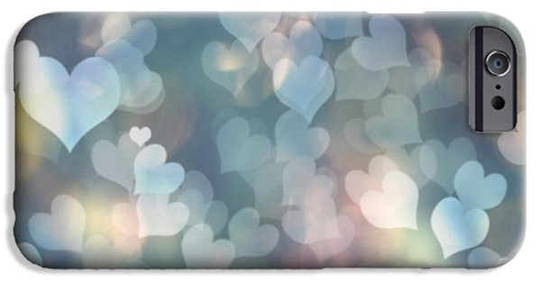 Day iPhone Cases - Heart Background iPhone Case by Amanda And Christopher Elwell