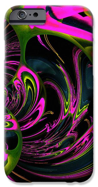 Healing Posters iPhone Cases - Heart Chakra iPhone Case by Absinthe Art By Michelle LeAnn Scott