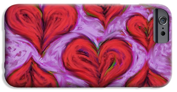 Loose Style Digital iPhone Cases - Heart drift iPhone Case by Keith Mills