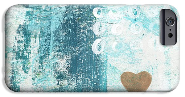 Abstracted iPhone Cases - Heart in the Sand- abstract art iPhone Case by Linda Woods