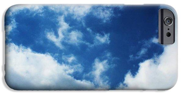 Anna Villarreal Garbis iPhone Cases - Heart in the Sky iPhone Case by Anna Villarreal Garbis