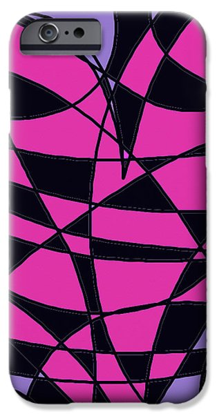 Modern Abstract Ceramics iPhone Cases - Heart iPhone Case by Janpen Sherwood
