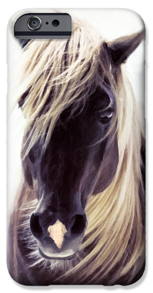 Agriculture Mixed Media iPhone Cases - Heart Of A Horse iPhone Case by Georgiana Romanovna