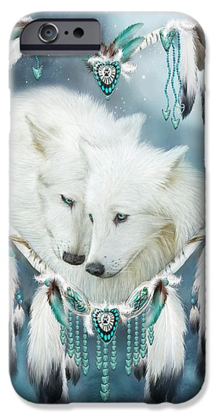 Native iPhone Cases - Heart Of A Wolf iPhone Case by Carol Cavalaris