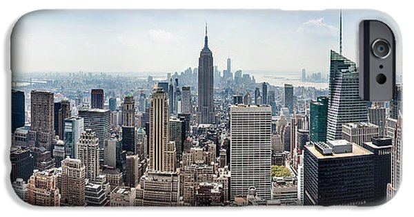 Empire State Building iPhone Cases - Heart of an Empire iPhone Case by Az Jackson