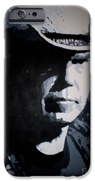 Neil Young Paintings iPhone Cases - Heart of Gold iPhone Case by ID Goodall